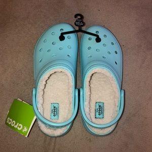 New Crocs! Super soft! Color = ice blue/oatmeal